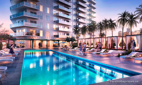 Paraiso-Bayviews-Pool-at-night