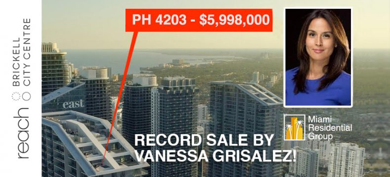 Record sale at Brickell City Center by our team of agents
